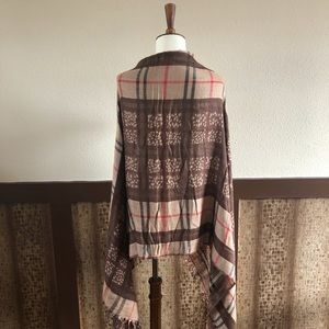 Accessories - Italian Fringed Plaid Scarf or Wrap